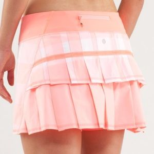 Lululemon pace rival skirt gingham bleached coral